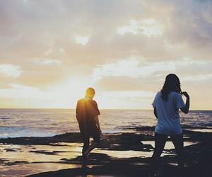 australia, beach, and best friend image