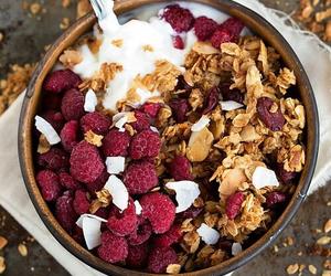 fresh, fruit, and granola image