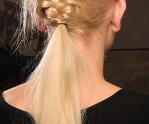 blond hair, braid, and hairstyle image