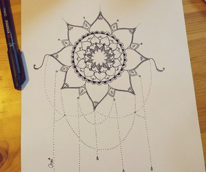 draw, drawing, and flower image