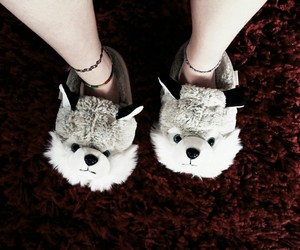 kawaii, wolf, and chaussons image