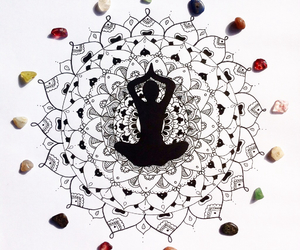 mandala, vibe, and yoga image