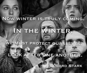 black and white, richard madden, and winter is coming image