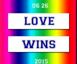 rainbow, love wins, and marriage equality image