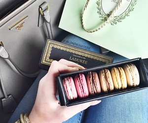 fashion, food, and macaroons image