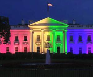 rainbow, white house, and gay image
