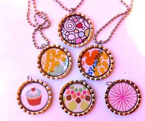 cupcake, necklace, and pink image