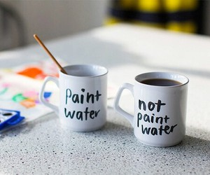 funny, coffee, and paint water image