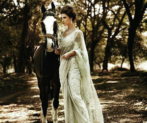 horse, dress, and model image