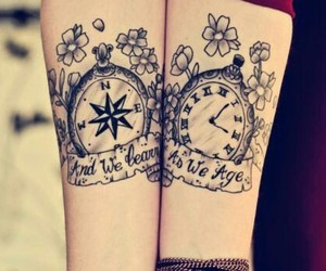 tattoo, clock, and time image