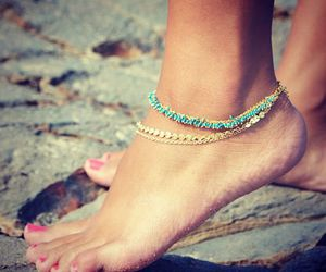 anklet and summer image