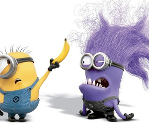 minions, banana, and purple image