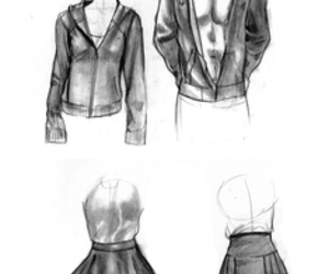 drawing, dress, and tutorial image