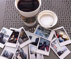 coffee, starbucks, and polaroid image