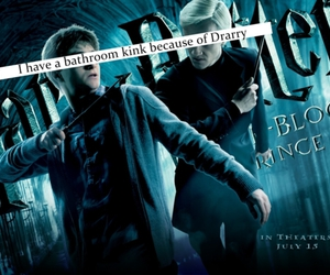 draco malfoy, harry potter, and kink image