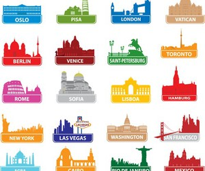 city and travel art image