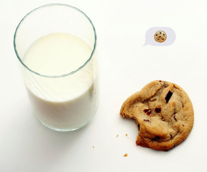 Cookies, milk, and summer image