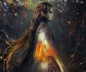 art, fantasy, and nature spirit image