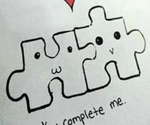 puzzle and love image