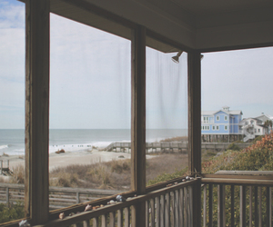 beach and beach house image