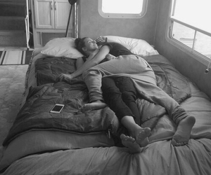 couple, sleep, and hug image