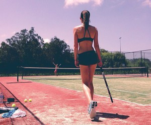 sport, girl, and tennis image