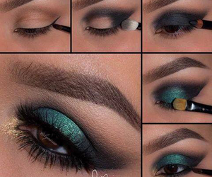 beautiful, emerald, and eye image