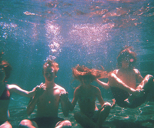 friends, water, and boy image