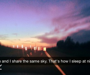 love, sky, and quote image