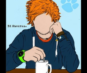 ed sheeran, ginger, and drawing image