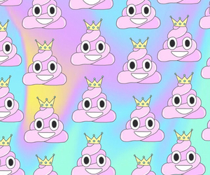 background, pink, and poop image