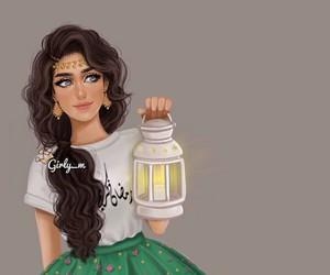 girl, Ramadan, and love image