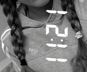 adidas, curly, and curlygirl image