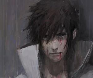 anime, drawings, and sasuke uchiha image