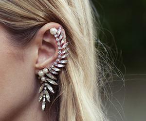 earrings, hair, and blonde image