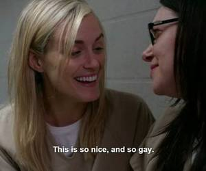 orange is the new black, gay, and oitnb image