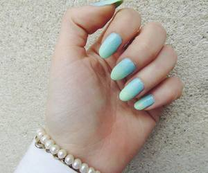 baby blue, nails, and turquise image