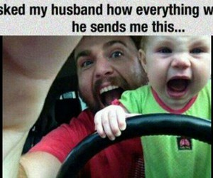 baby, funny, and laugh image