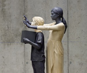 sculpture, statue, and willy verginer image