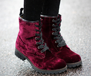 shoes, boots, and red image