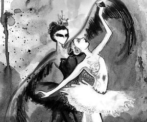 black swan, ballet, and black image