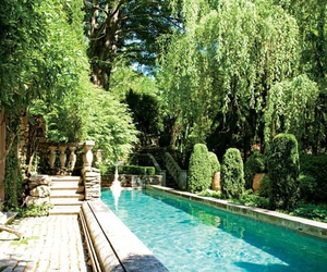 pool, garden, and house image