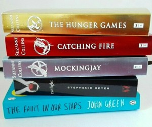books, series, and the hunger games image