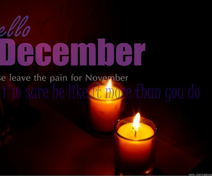 candle, december, and pain image