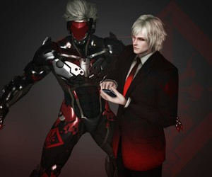 jack the ripper, raiden, and metal gear rising image