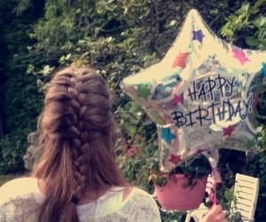 balloon, birthday, and braid image