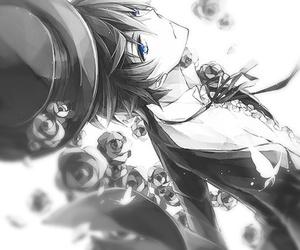 anime, anime boy, and flowers image