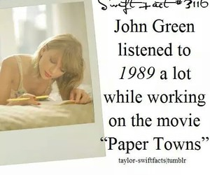 1989, john green, and Taylor Swift image