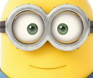 minions, yellow, and eyes image