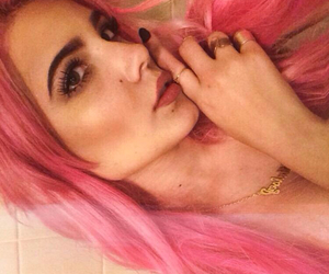 halsey, hair, and pink image